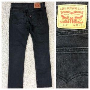 Levi's 511 black stretch slim fit jeans, 32x31